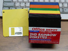 3.5 inch floppy disks in colors