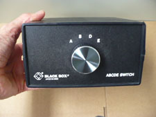 Black Box ABCDE switch, front